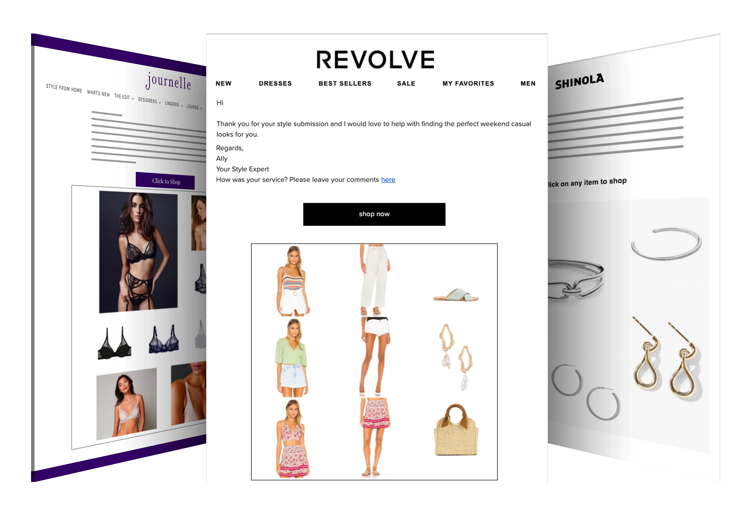 Curated Campaigns Send remotely curated product selections via personalized, customizable campaigns by your brand experts.