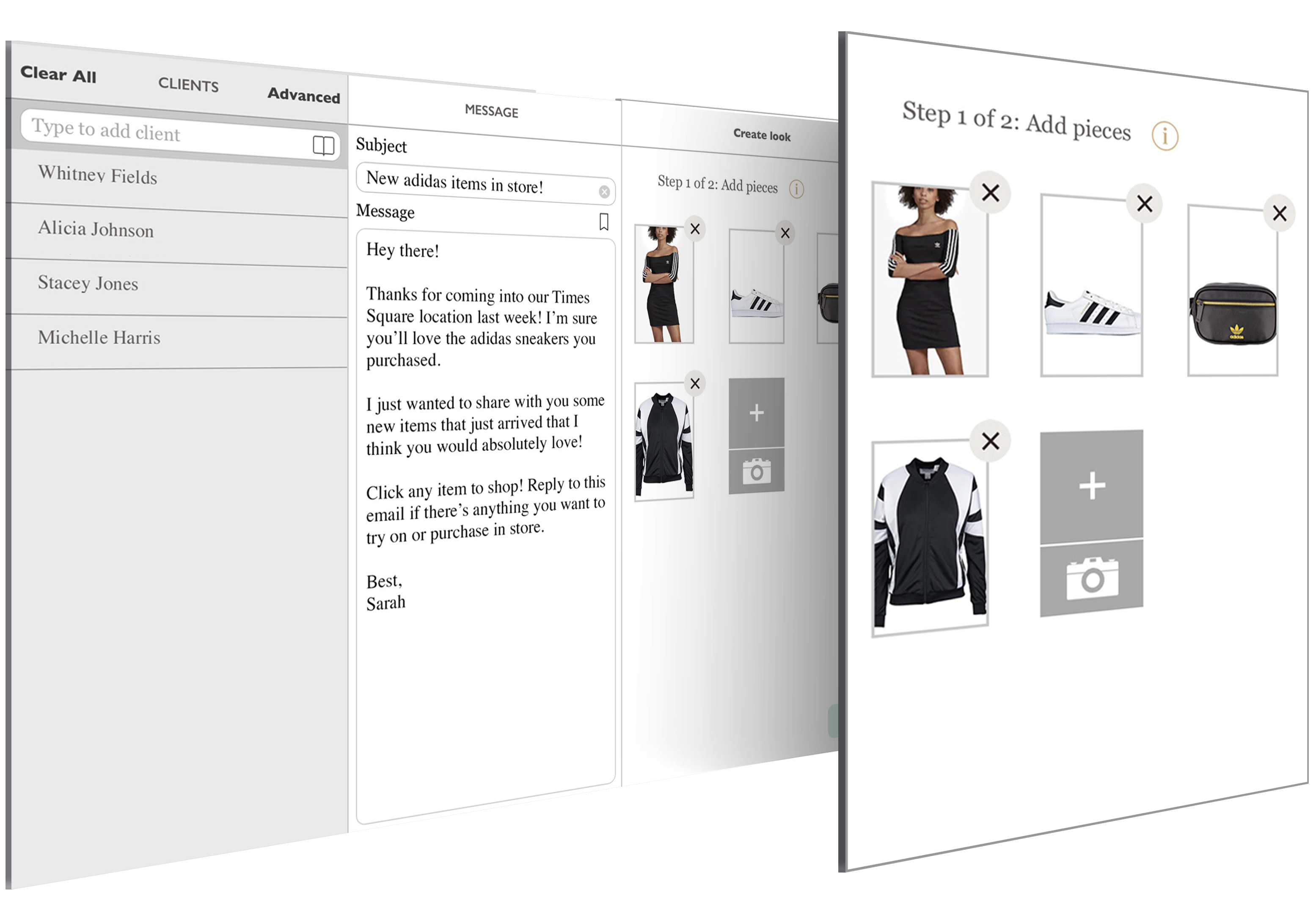 Visual Merchandiser product selections for customers